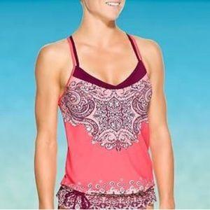 Athleta   Nosara Asana Pink Tankini size Medium